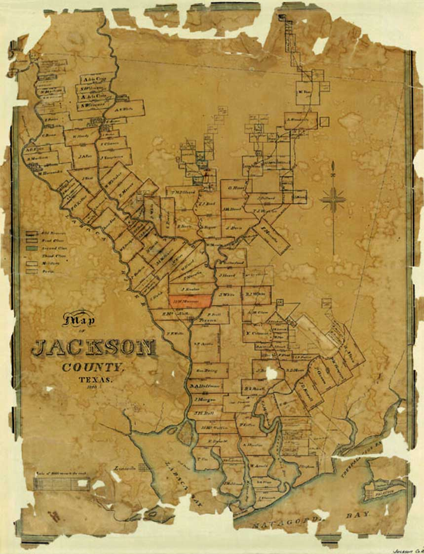 Map Of Texas 1840.The Munsons Of Texas Maps 1840 Plat Map Of Jackson County Texas